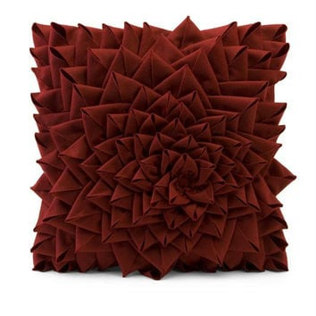 Throw Pillow - Bold Red Rose