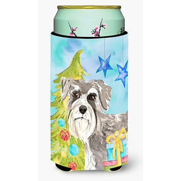 Christmas Tree Schnauzer #1 Tall Boy Beverage Insulator Hugger CK1866TBC