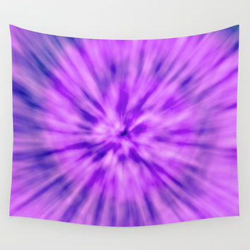 PURPLE TIE DYE Wall Tapestry by Nika | Society6