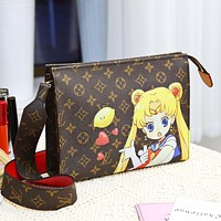 LV Louis Vuitton Fashion Women Leather Multicolor Satchel Crossbody Shoulder Bag