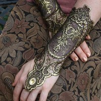 Juliet Capulet Gloves | Metallic Embroidered Gloves