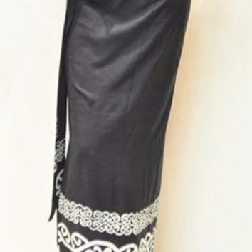 Handmade Black Wrap-A-Round Skirt
