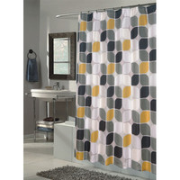 Walmart: Carnation Home Fashions Metro Extra Long Polyester Fabric Shower Curtain
