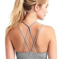 Breathe low impact strappy sports bra | Gap