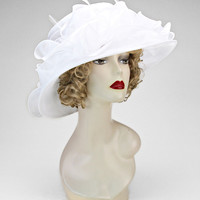 Elegant Ribbon Woman's Dress Hat