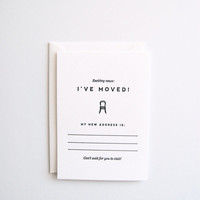 I've Moved: Moving Announcements - Set of 8