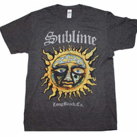Sublime Logo Stamp Sun Soft T-Shirt - Heather Charcoal - Large