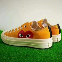 Converse Play Orange Fashion Canvas Flats Sneakers Sport Shoes G-AD-XZ