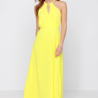 Light of My Life Yellow Maxi Dress