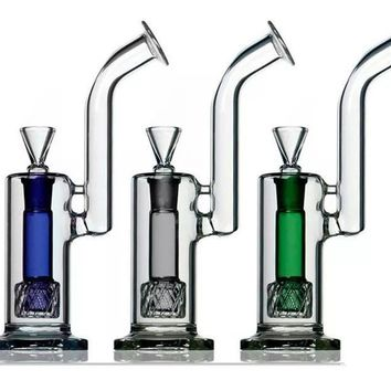 Boo Glass Upright Bubbler w/Colored Perc