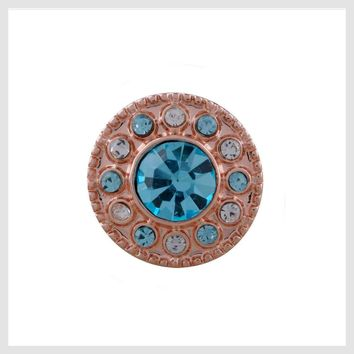 Rose Gold Turquoise and Crystal 12mm Mini