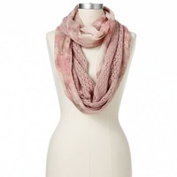 Apt. 9® Winter Bloom Floral Knit Infinity Scarf