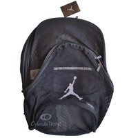 Nike Air Jordan Mesh Backpack Black Bag School Book 9A1482-023 Men Women Boys
