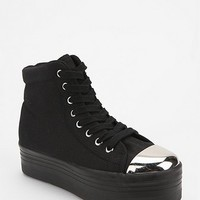 Jeffrey Campbell HOMG Metal Cap High-Top Flatform-Sneaker