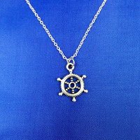 Boat Steering Wheel Necklace