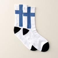 All Over Print Socks with Flag of Finland