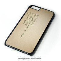 Harry Potter - Sirius Black Quote Design for iPhone and iPod Touch Case