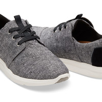 BLACK SLUB CHAMBRAY WOMEN'S DEL REY SNEAKERS