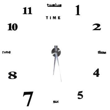 Large Black Modern Mute 3D Wall Clock Mirror Stickers DIY Wall Decoration