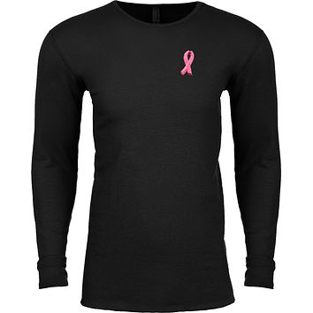 Buy Cool Shirts Breast Cancer T-shirt Embroidered Pink Ribbon Pocket Thermal