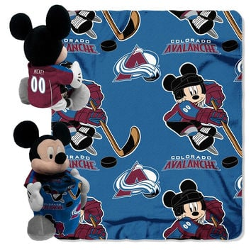 Colorado Avalanche NHL Mickey Mouse with Throw Combo