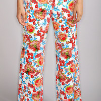darling floral party pants