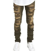 CRYSP Jimmy Denim Jeans In Olive