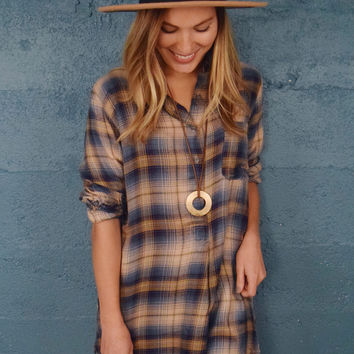 Open Skies Plaid Top