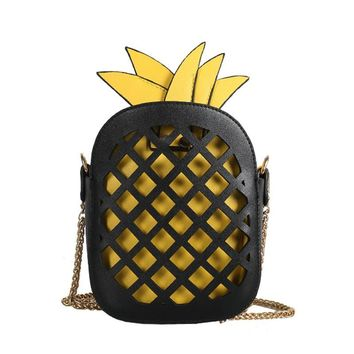 2017 Personality Style Bag Design Hollow Pineapple Fashion Chain Shoulder Bag Handbag Ladies Purse Crossbody Messenger Bags