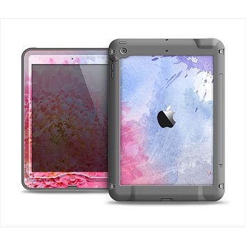 The Pink to Blue Faded Color Floral Apple iPad Mini LifeProof Nuud Case Skin Set