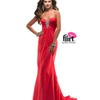 Flirt by Maggie Sottero 2013 Prom Dresses - Poppy Chiffon Rhinestone Deep Sweetheart Prom Dress