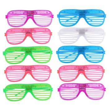 12 Pairs of Plastic Shutter Shades Grid LED Glasses Eyewear Halloween Club Party Cosplay Props