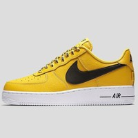AUGUAU Nike Air Force 1 07 Lv8 Amarillo Black-White