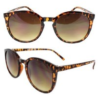 Amazon.com: SWG Eyewear Retro Oval Gangnam Style Fashion Sunglasses Brown Leopard Frame Amber Lenses for Women and Men: Shoes