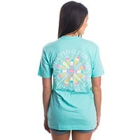 Melting For You Pocket Tee in Ocean Palm by Lauren James - FINAL SALE