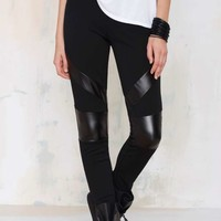 Nasty Gal Barracuda Vegan Leather Leggings