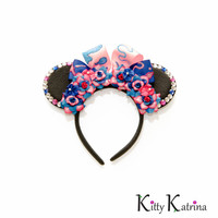 Make It Pink Make It Blue Disney Ears Headband, Mouse Ears, Princess Mouse Ears, Princess Aurora Ears, Princess Aurora Costume, Disney Bound