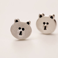 The new 925 sterling silver pretty nifty Fashionable (easily bear stud earrings) earrings