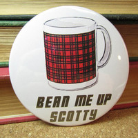 Coasters Bean Me Up Scotty Star Trek Scottish by theartfulbadger