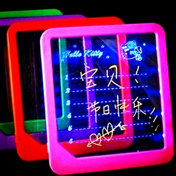 LED Light-Up Message Board W/Pen Memo Home Gift Portable LCD Writing Tablet
