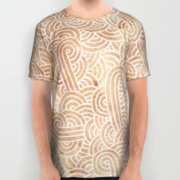 Iced coffee and white zentangles All Over Print Shirt by Savousepate