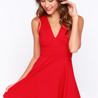 Queen Sweep Red Dress