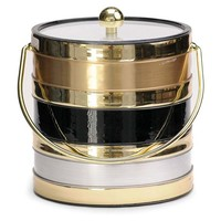 Tri-Tone Metal Ice Bucket, 3 Qt