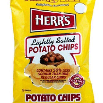 Herr's Lightly Salted Potato Chips 1 oz Bags - Pack of 42