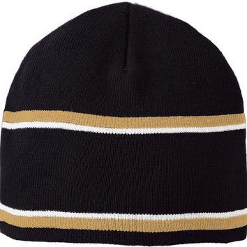 Holloway 223832?engager Beanie   Black Vegas Gold White
