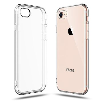 Clear Case for iPhone 8 and iPhone 7 Transparent TPU Shock Absorption