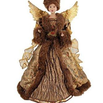 "Santa's Workshop 3110 African American Earthly Angel Treetopper, 17"", Multi"