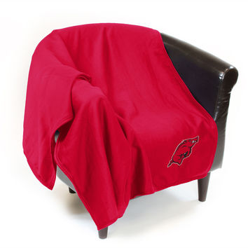 Arkansas Razorbacks NCAA Sweatshirt Blanket Throw