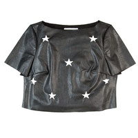 Love Gun Leather Crop Top
