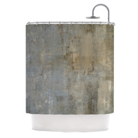 "CarolLynn Tice ""Overlooked"" Brown Gray Shower Curtain"